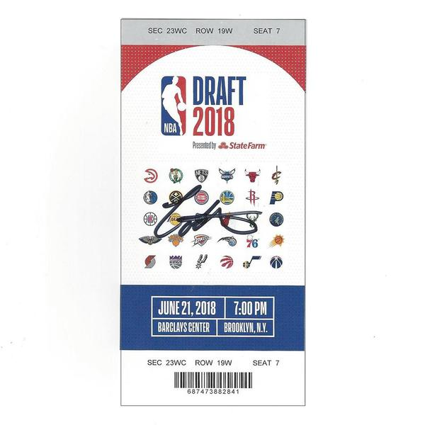 Image of Collin Sexton - Cleveland Cavaliers  - 2018 NBA Draft - Autographed Draft Ticket