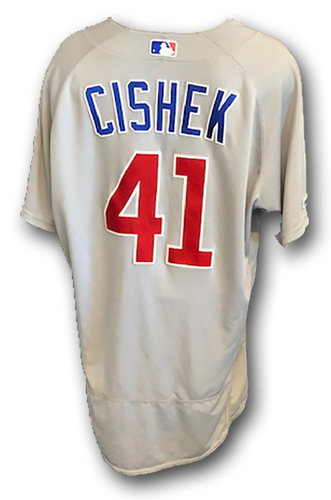 Photo of 12 Days of Auctions: Day 10 -- Steve Cishek Game-Used Jersey -- Opening Day 2019 -- Cubs at Rangers -- 3/28/19; Also Worn 9/28/19 at Cardinals -- Cishek 4th Win (1 IP, 0 ER) -- Size 48