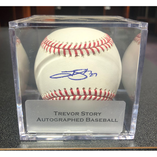 Photo of Colorado Rockies Autographed Baseball: Trevor Story