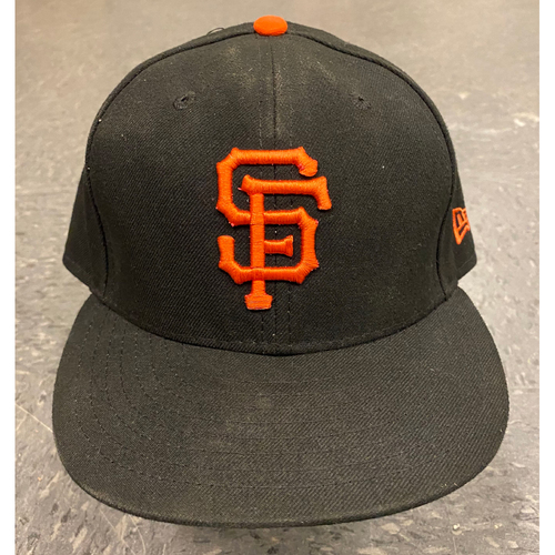 Photo of 2019 Game Used Black Cap - worn by #57 Dereck Rodriguez - Authenticated on 9/29/19 vs LAD - size 7 3/8