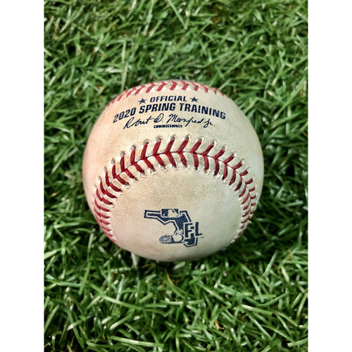 Photo of Spring Training Game Used Baseball: Tyler Glasnow strikes out Miguel Cabrera - February 27, 2020 v DET
