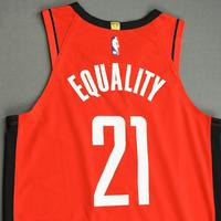 Michael Frazier - Houston Rockets - Game-Worn Icon Edition Jersey - Dressed, Did Not Play (DNP) - 2019-20 NBA Season Restart with Social Justice Message