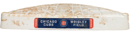 Photo of Game-Used Base -- Cubs 2020 Season -- Games Played at Wrigley Field