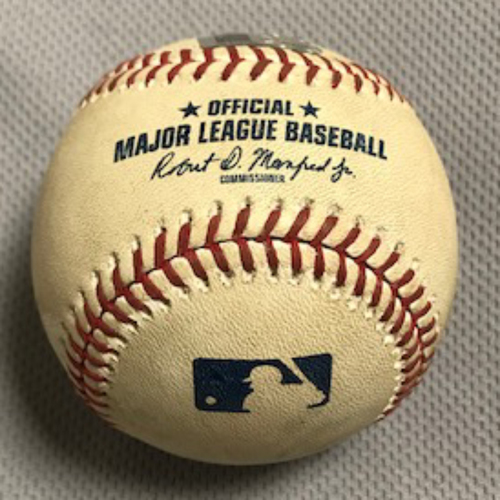 2020 World Series Participant Mookie Betts Game-Used Baseball from 9/9/20, Dodgers at D-backs: Junior Guerra vs. Mookie Betts (Line Out to Daulton Varsho)