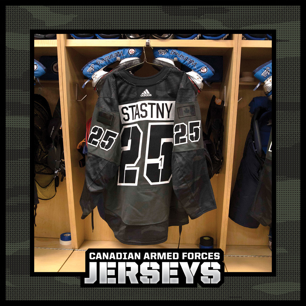 PAUL STASTNY Warm Up Worn Canadian Armed Forces Jersey