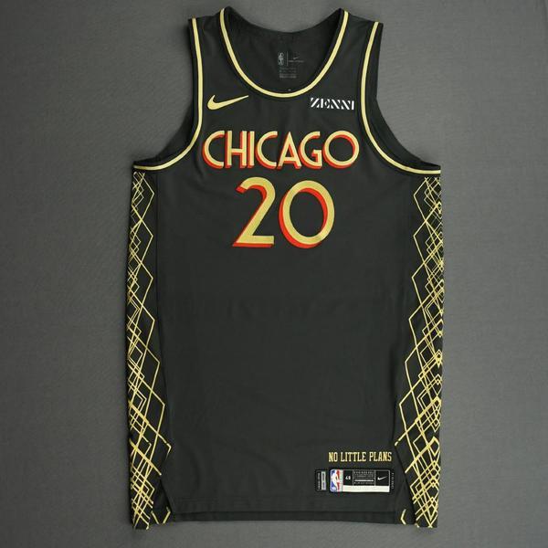 Image of Adam Mokoka - Chicago Bulls - City Edition Jersey - Dressed, Did Not Play (DNP) - 2020-21 NBA Season