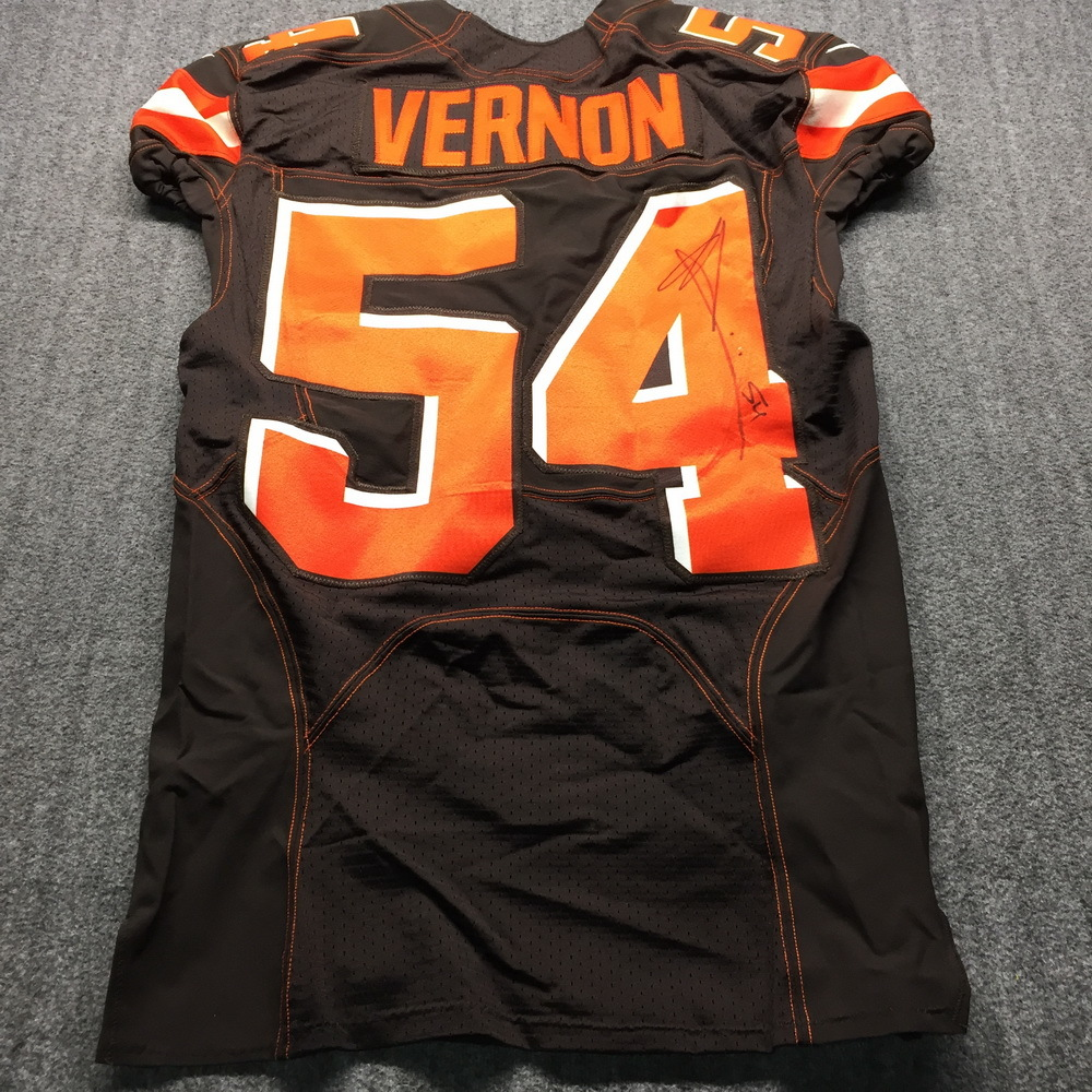 STS - Browns Olivier Vernon Signed Game Used Jersey (11/10/19) Size 40