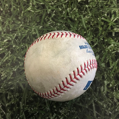 Photo of Game-Used Baseball MIN@MIL 04/03/21 - Corbin Burnes - Ryan Jeffers: Foul