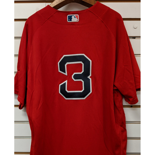 Photo of Sandy Leon #3 Team Issued Red Home Alternate Jersey