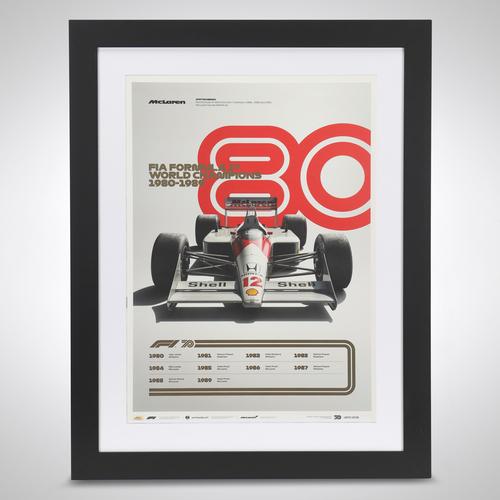 Photo of World Champions Automobilist Poster 1980 - 1989