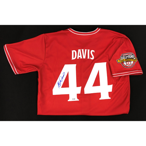 Photo of Eric Davis - AUTOGRAPHED Game Used Jersey: Reds Hall of Fame Legends Game - Coaching Staff