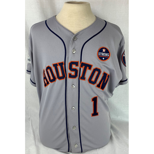 Photo of Carlos Correa 2017 Game-Used Jersey - ALDS Game 3 + 4.