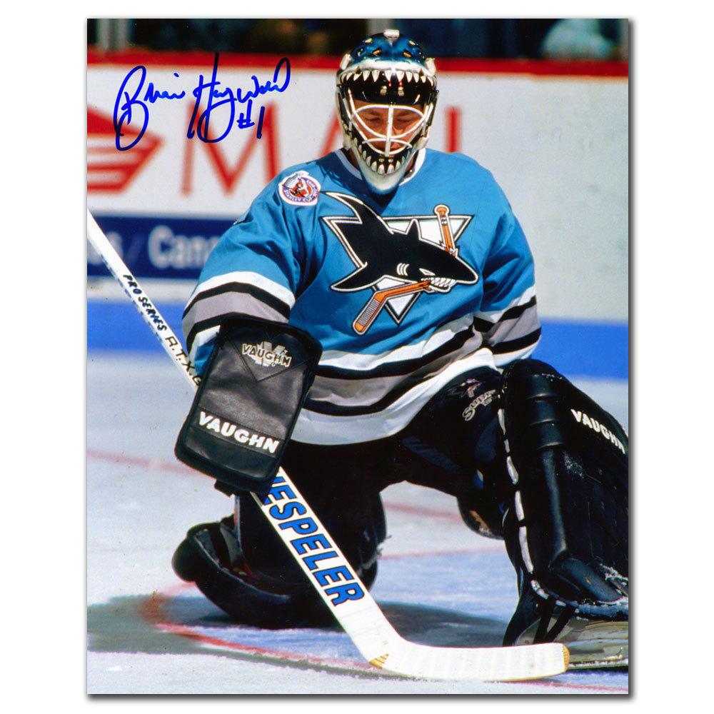Brian Hayward San Jose Sharks Autographed 8x10