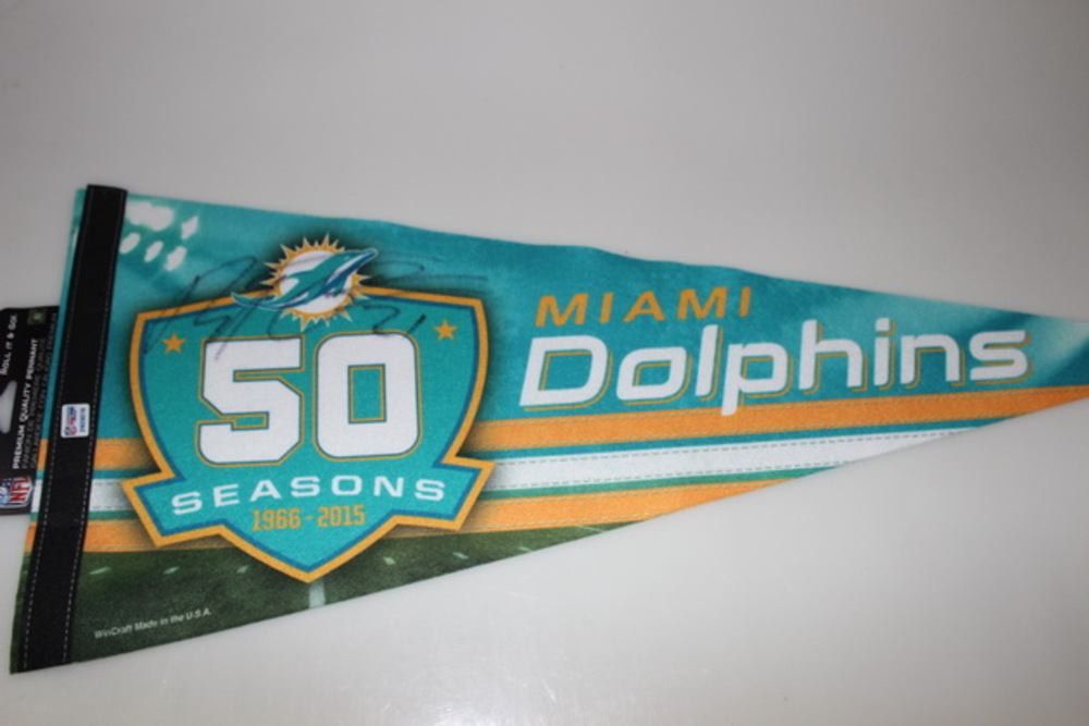 DOLPHINS - BRENT GRIMES SIGNED DOLPHINS PREMIUM PENNANT