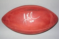 CARDINALS - JUSTIN BETHEL SIGNED AUTHENTIC FOOTBALL W/ CARDINALS TEAM STAMP