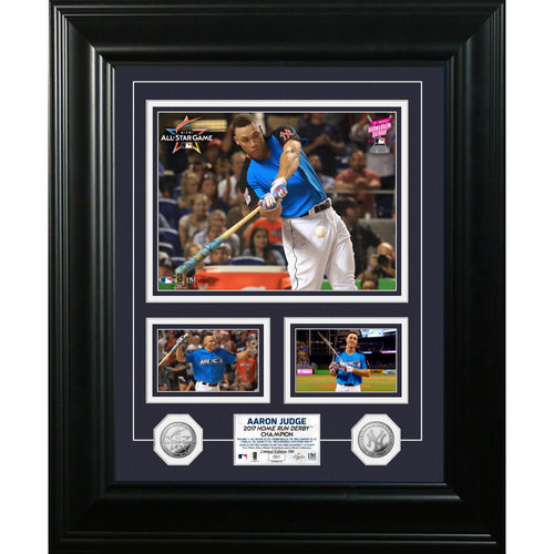 Photo of Aaron Judge 2017 Home Run Derby Champion Silver Marquee Photo Mint