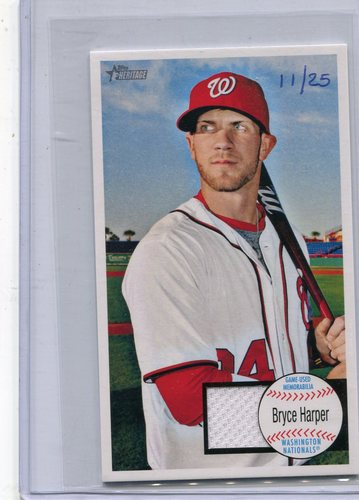 Photo of 2013 Topps Heritage Giants Relics #BH Bryce Harper 11/25