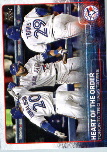 Photo of 2015 Topps Update #US187 Heart of the Order/Jose Bautista/Josh Donaldson/Devon Travis