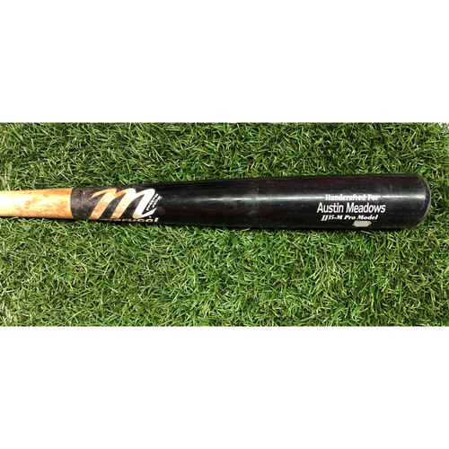 Photo of 2018 Game Used Broken Bat: Austin Meadows - September 24, 2018 v NYY