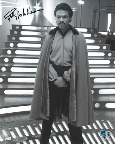 PREORDER Billy Dee Williams As Lando Calrissian 8X10 Autographed in Blue Ink Photo