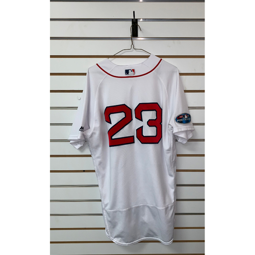 Photo of Blake Swihart Game Used October 14, 2018 Home Jersey