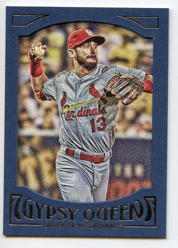Photo of 2016 Topps Gypsy Queen Framed Blue #60 Matt Carpenter
