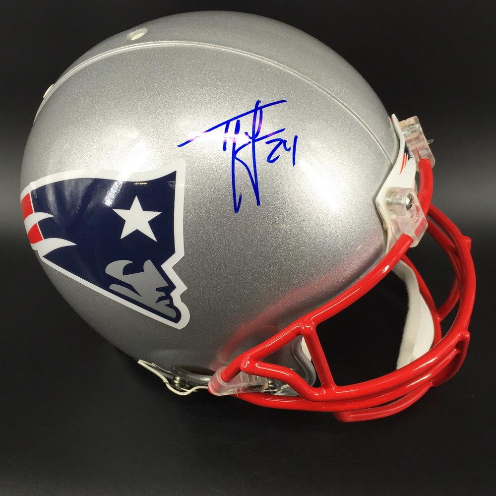 HOF - Patriots Ty Law Signed Proline Helmet