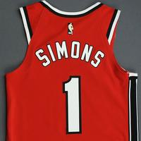 Anfernee Simons - Portland Trail Blazers - Game-Worn Classic Edition 1975-77 Road Jersey - 2019-20 NBA Season