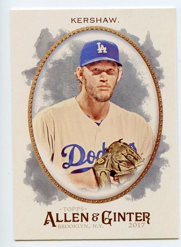 Photo of 2017 Topps Allen and Ginter #178 Clayton Kershaw
