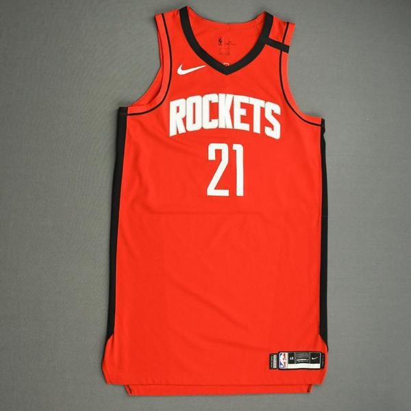 Image of Michael Frazier - Houston Rockets - Game-Worn Icon Edition Jersey - Dressed, Did Not Play (DNP) - 2019-20 NBA Season Restart with Social Justice Me...