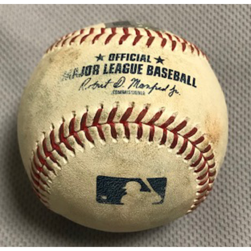 Photo of 8/2/20 Game-Used Baseball, Dodgers at D-backs: Merrill Kelly vs. Cody Bellinger (Line Out to Kole Calhoun) and Chris Taylor (Ground Out, Nick Ahmed to Christian Walker)