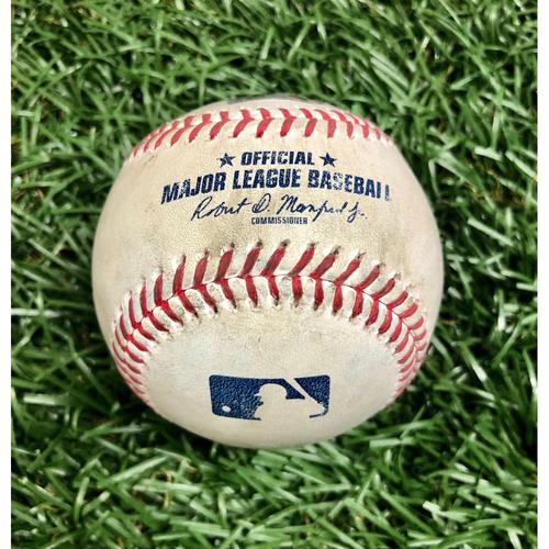 Photo of Rays Baseball Foundation: Game Used Home Run Baseball - Starling Marte - September 6, 2020 v MIA