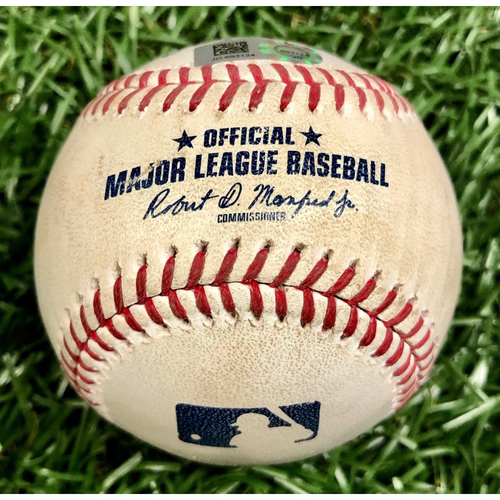 Photo of Game Used Baseball: Jalen Beeks strikes out Shohei Ohtani - June 16, 2019 v LAA