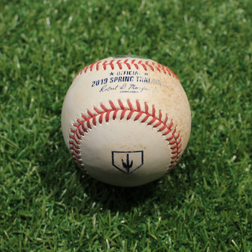 Photo of Game-Used Baseball: Barlow - Strike (KC @ OMA 3/25/19)