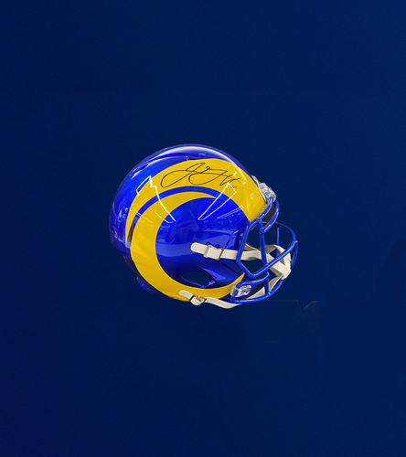 Photo of Jared Goff Signed Replica Helmet