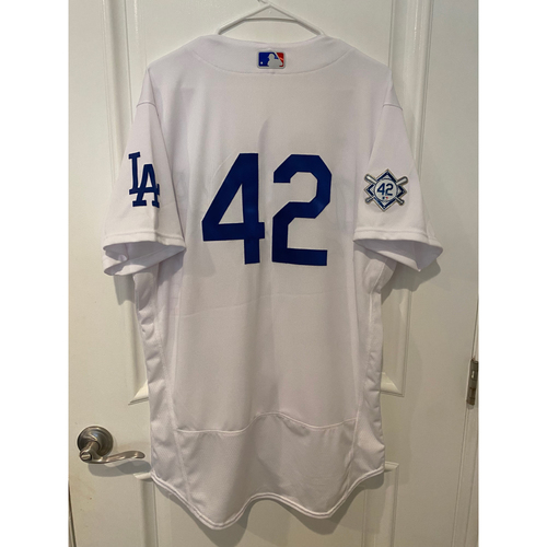 Photo of Austin Barnes Game-Used Jackie Robinson Day Jersey - Size 44
