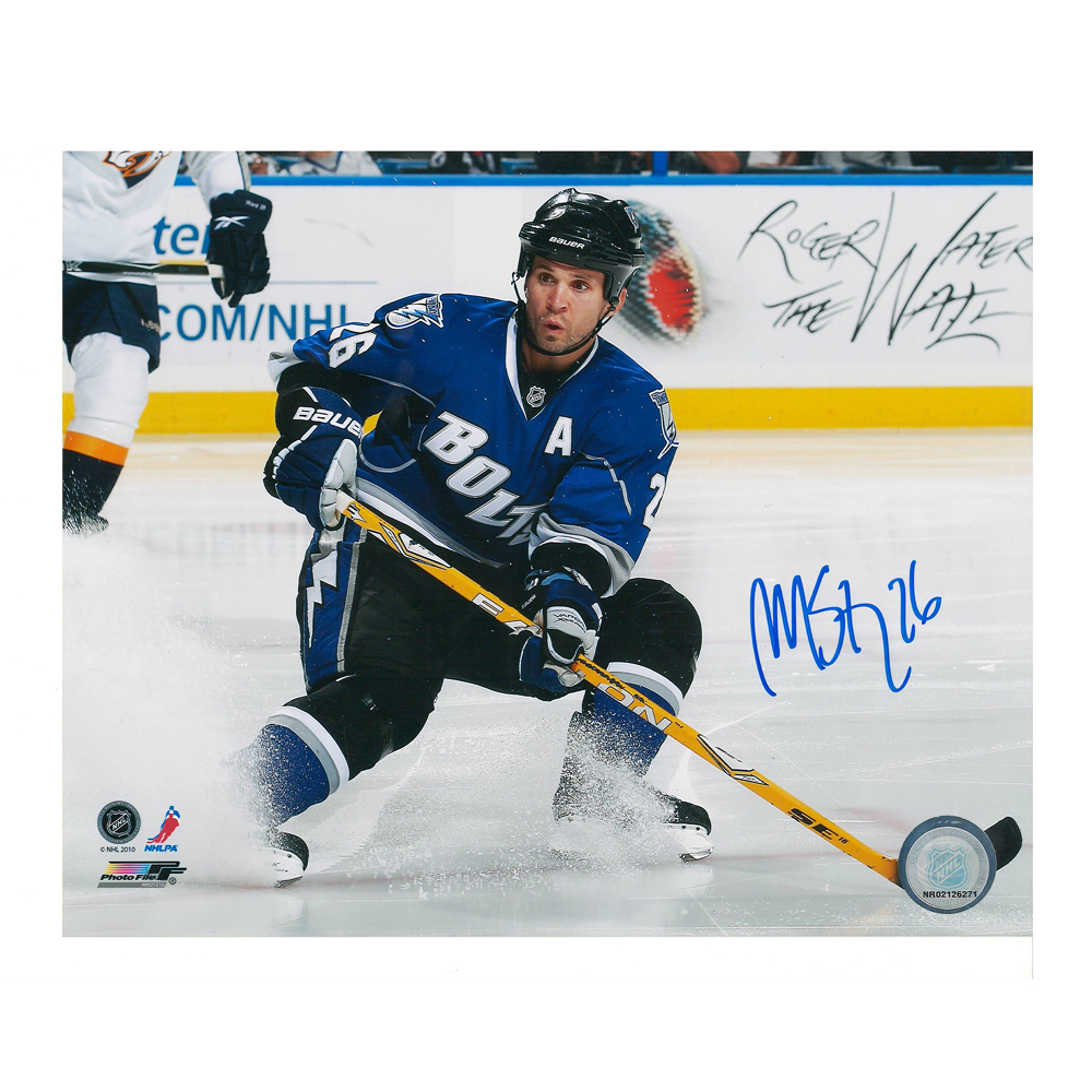 MARTIN ST LOUIS Signed Tampa Bay Lightning 8 X 10 Photo - 70503