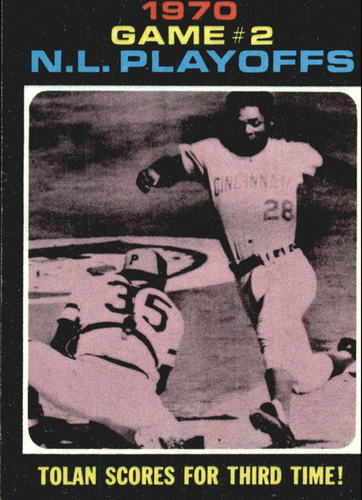 Photo of 1971 Topps #200 NL Playoff Game 2/Bobby Tolan