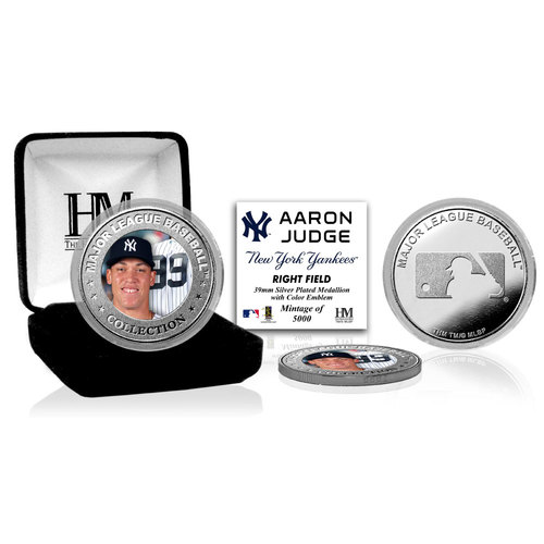 Photo of Aaron Judge Silver Color Coin