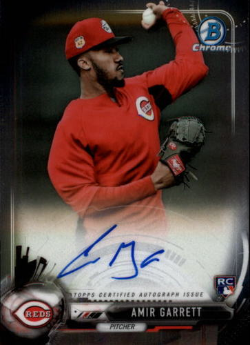 Photo of 2017 Bowman Chrome Rookie Autograph #BCARAG Amir Garrett RC AUTO