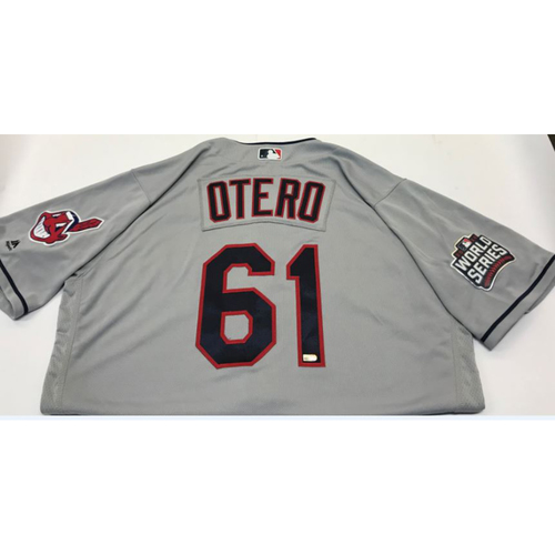 Photo of Dan Otero Team-Issued 2016 World Series Jersey