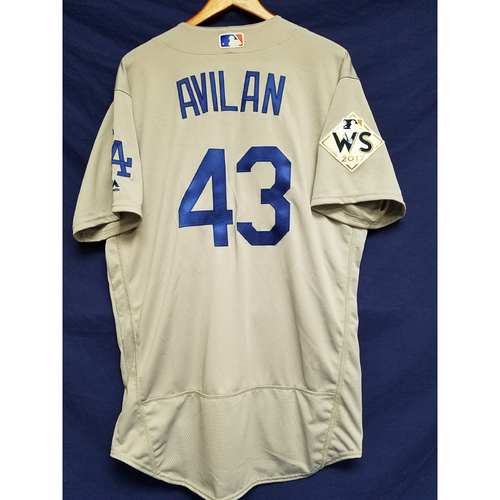 Photo of Luis Avilan 2017 Road World Series Team-Issued Jersey