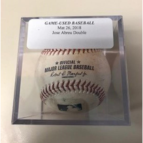 Photo of Game-Used Baseball: Jose Abreu Double