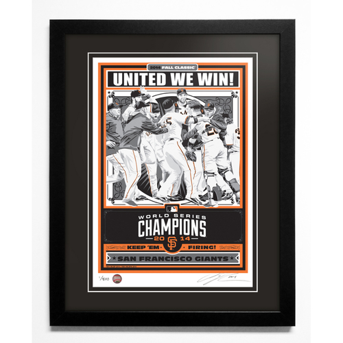 Photo of 2014 San Francisco Giants World Series Champions Handmade Serigraph, Edition #1, Signed by Artist & Framed