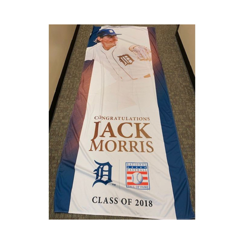 Photo of Team-Issued 2018 Hall of Fame Congratulations Jack Morris Banner