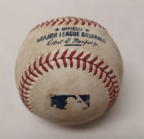 Photo of Authenticated Game Used Baseball - Corey Dickerson Single against Francisco Liriano (April 29, 2017 vs TB). Top 4.