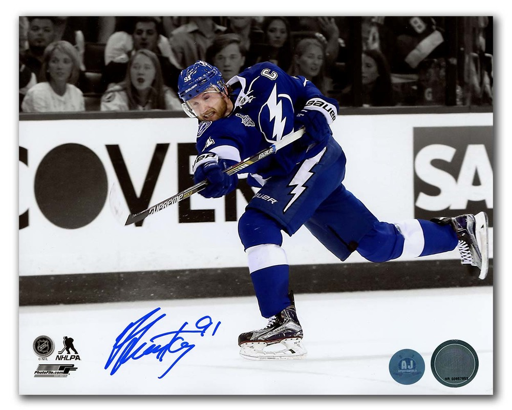 Steven Stamkos Tampa Bay Lightning Signed 2015 Stanley Cup Finals 8x10 Photo