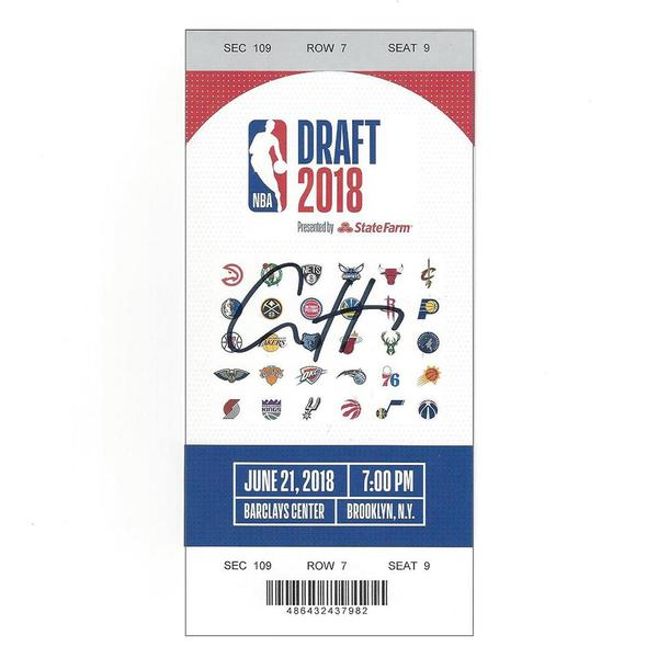 Image of Aaron Holiday - Indiana Pacers - 2018 NBA Draft - Autographed Draft Ticket