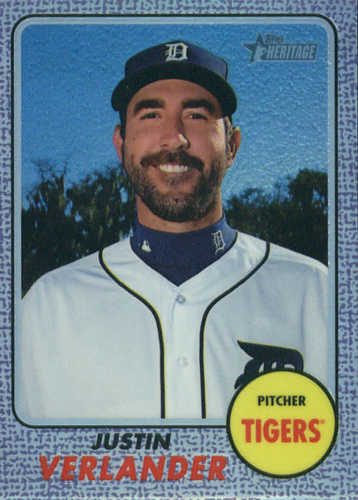Photo of 2017 Topps Heritage Chrome Purple Refractors #THC417 Justin Verlander
