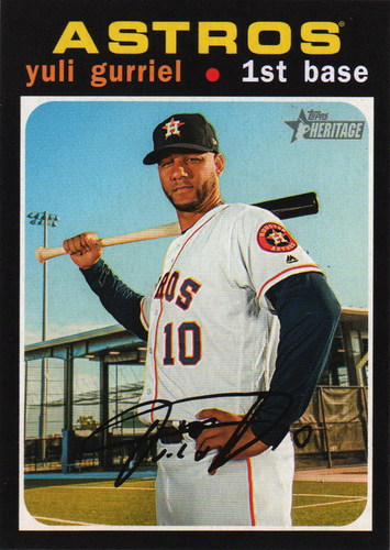 Photo of 2020 Topps Heritage #17 Yuli Gurriel